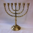 Chandelier-Menorah 7 branches - laiton